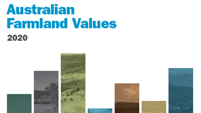 Cover of the National Farmland Values Report 2020.